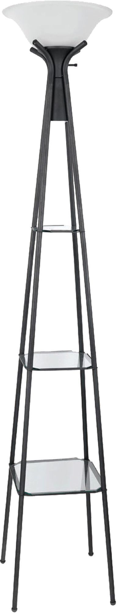 Floor Lamp with 3 Glass Shelves | Coaster Furniture | Home Gallery Stores #coasterfurnitureshelves #coasterfurniturehome