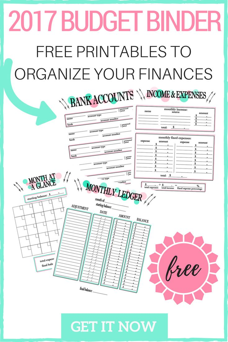2017 Budget Binder Printables! Get your free budget binder to become a budget boss today! Learn our 3-step budget plan and take control of your finances! Stop living paycheck to paycheck today!