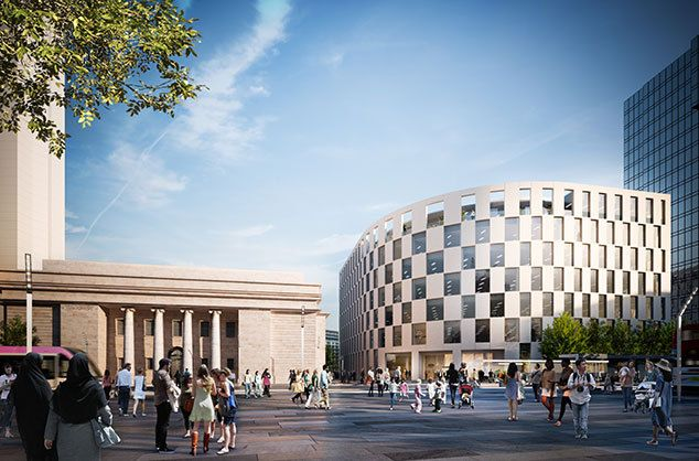 Make Architects Win Planning For First Building in Birmingham's Arena Central