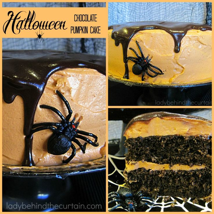 This a a FABULOUS FALL CAKE! With a decadent chocolate cake and a creamy fluffy cream cheese frosting.