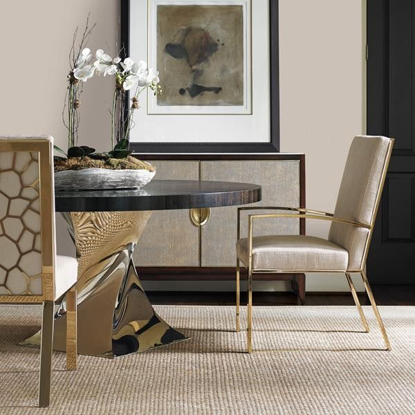On Thin Ice Dining Arm Chair - Caracole Furniture   Luxe Home Philadelphia