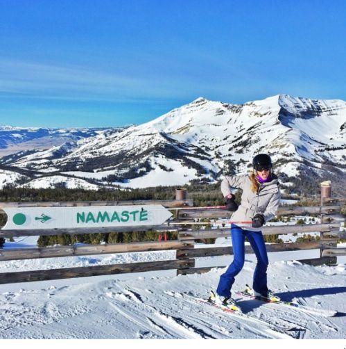 Gisele Bündchen station ski Yellowstone