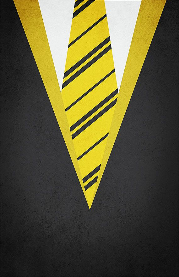 Minimal Hufflepuff Robe Poster  Harry by designbynickmorrison,