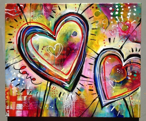 Colorful hearts.  Go to www.YourTravelVideos.com or just click on photo for home videos and much more on sites like this.