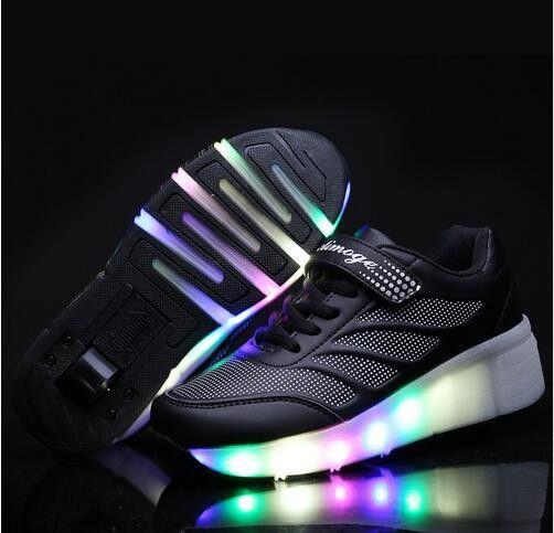 chaussures lumineuses chaussures de roller skate pour les enfants Led light up sneaker womens chaussures de sport 3Ka3CjizNN