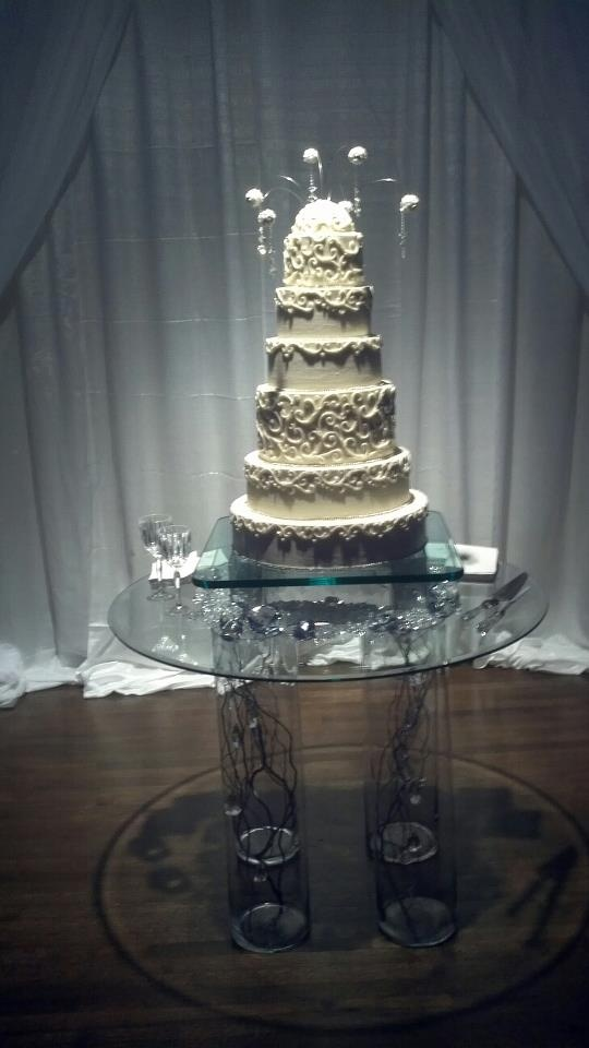 New Years Eve Wedding Cake By Jan Ou0027Donald AND Ghost Table By Andy Hopper