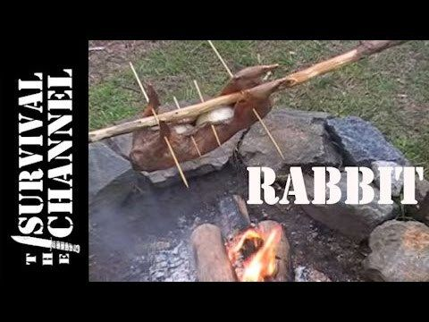 Cooking rabbit over fire-The Survival Channel -Outdoor Gear Reviews  http://prepperhub.org/cooking-rabbit-over-fire-the-survival-channel-outdoor-gear-reviews/