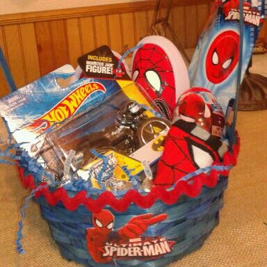 68 best diy easter basket ideas images on pinterest easter diy spiderman boys easter basket this is loaded with fun spiderman stuff few and negle Choice Image