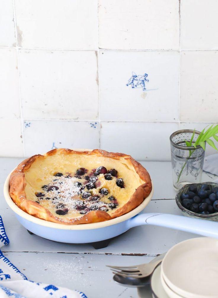 Blaubeere Ofen Pfannkuchen Rezept blueberry dutch baby recipe Pfannkuchen…