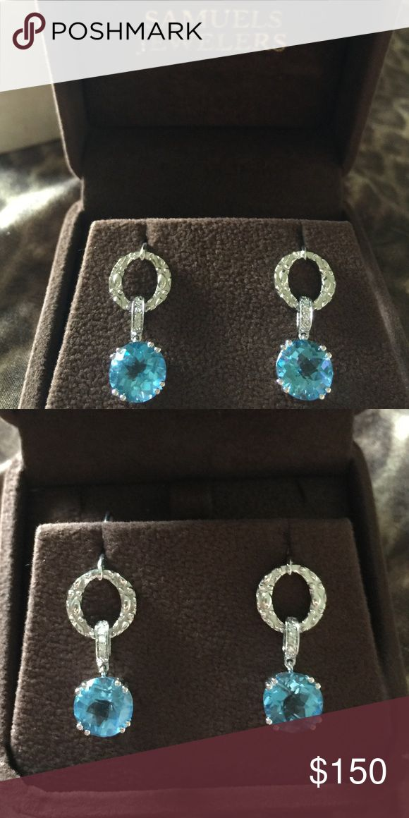 Samuels Jewelers Earrings OPEN TO OFFERS! Got as a gift a long long time ago. I know they were purchased for over $400. They are Sterling Silver. I don't know much else about them. They have never been worn! Open to offers! Kay Jewelers Jewelry Earrings