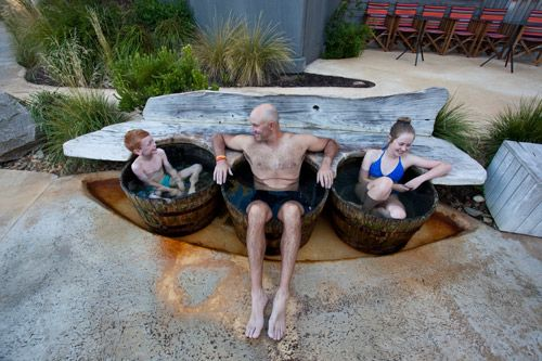 Fun for all the family at the Peninsula Hot Springs on the Mornington Peninsula. Great school holiday accommodation options available.
