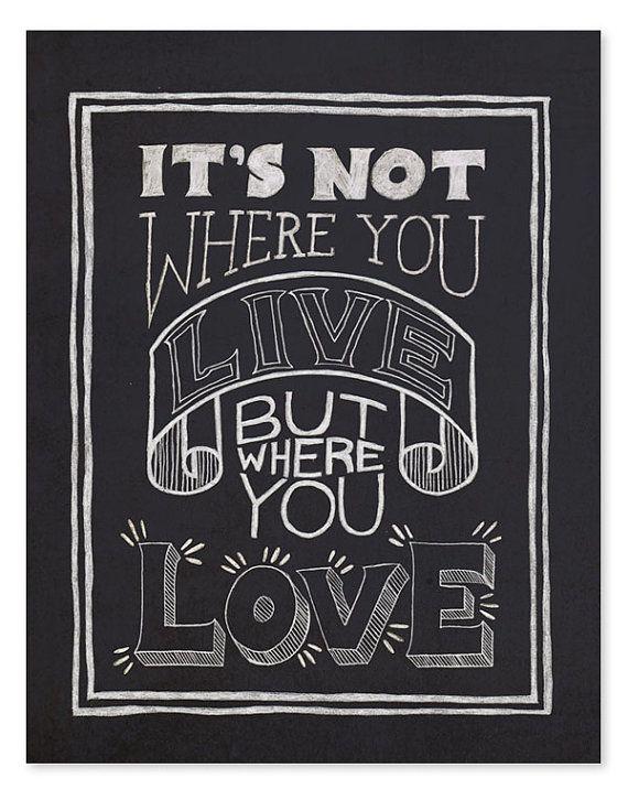 where you love art print.
