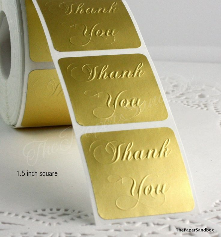 clear thank you stickers