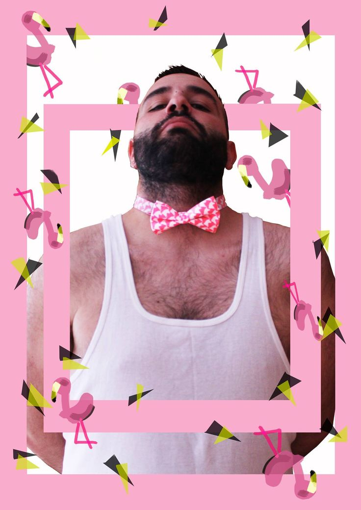 Pajarita rosa con estampación de unicornios blancos. Se diferente. Se Bogi