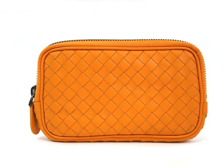 BOTTEGA VENETA Smartphone Case Intrecciato Calfskin Orange 325156 BF302271 #eLADY global offers free shipping worldwide. For more pre-owned luxury brand items, visit http://global.elady.com