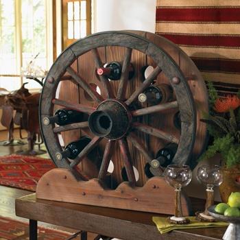 Very cute idea for a wine rack! #western #rustic