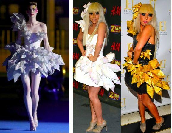 Lady gaga newspaper dress images