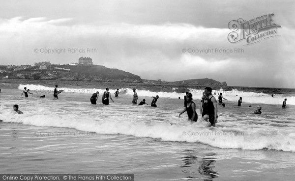 Newquay, Surf Bathing 1925, from Francis Frith