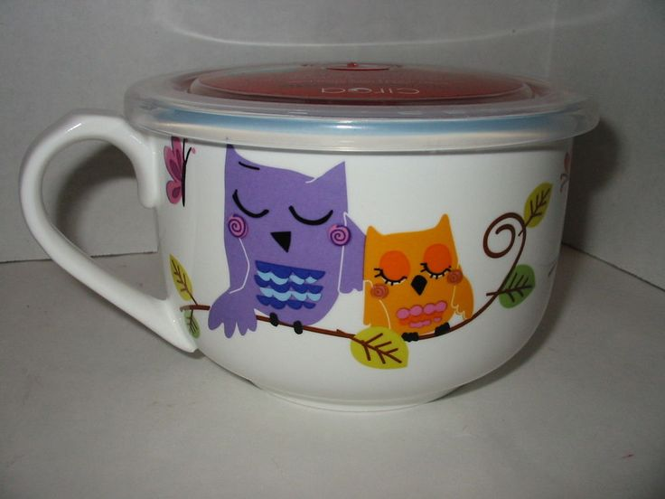 Cute Owl Ciroa Microwaveme Soup Coffee Mug Bowl 5 Quot Steam