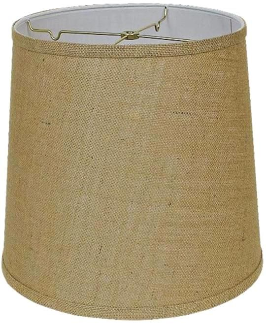 Tall drum burlap lamp shades usa american made by lamp shade pro 4 sizes table floor stiffel lights rustic barrel cylinder lampshades w hardback liner