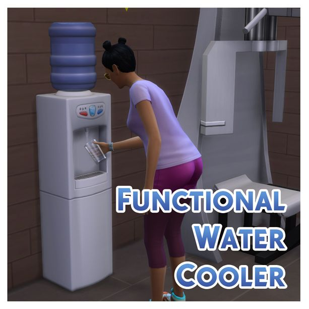 Functional Water Cooler by Menaceman44 at Mod The Sims » Sims 4 Updates