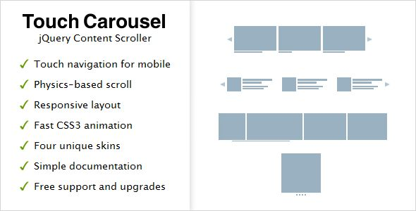 TouchCarousel - jQuery Content Scroller and Slider - Feedlinks.net