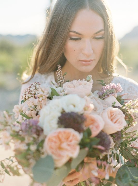 Organic and Earthy Arizona Desert Wedding Ideas = Photography: Of Georgia Photography | Film Lab: PhotoVision | Creative Direction: Ace & Whim | Styling & Florals: Sarah's Garden | Hair & Makeup: Kiana Waltz | Gown: Wedding Belles Love Marley | Menswear Zara | Venue: Encanterra | Models: Morgan Chmielowiec & Max Bourne of Agency AZ | Rentals: Vintage Rusticity | Paper Goods: Foil & Ink | Ribbon: Frou Frou Chic | All images photographed at the Ace & Whim 1:1 Whimshop