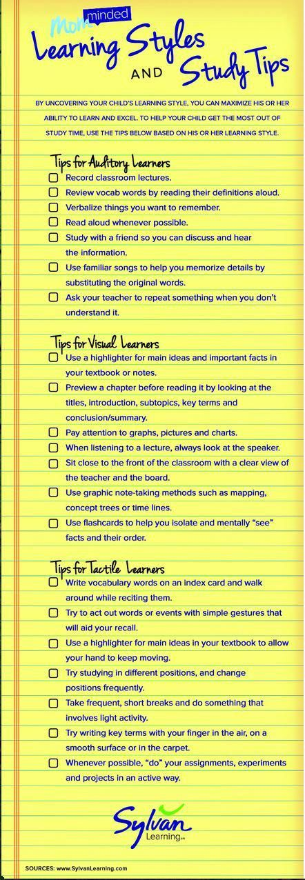 New Interesting Visual on Learning Styles and Study Tips ~ Educational Technolog…
