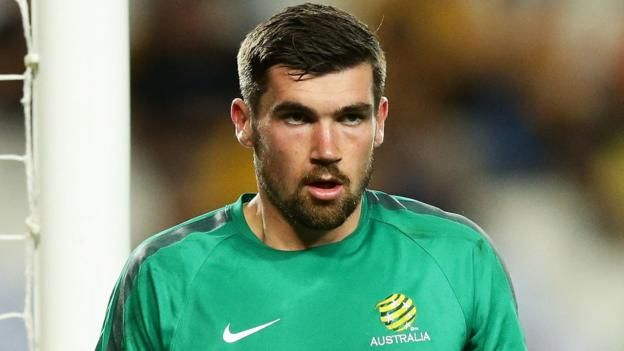 Australia goalkeeper Mathew Ryan to join Brighton for 'club-record fee'