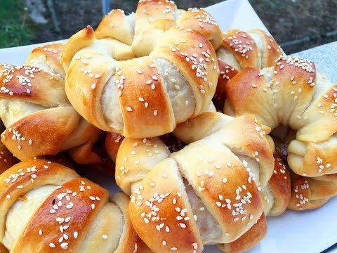▶ Türkische Pogaca Hörnchen Teigtaschen mit Kartoffelfüllung Börek - YouTube