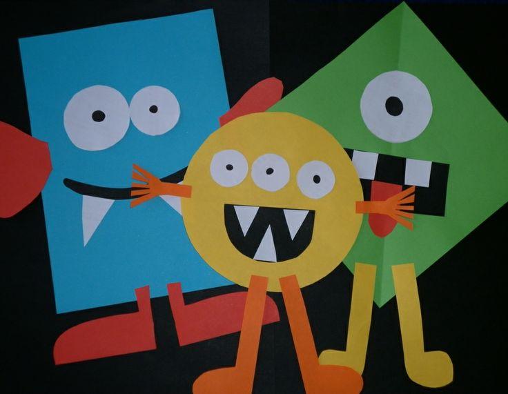 kindergarten shape monsters
