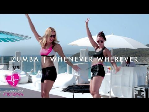 Ibiza Dance Fit | Whenever Wherever - Shakira - YouTube                                                                                                                                                     More