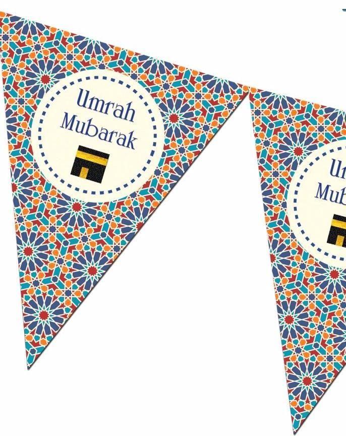 Umrah Mubarak Bunting Kit - Zellige