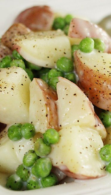 Creamy Potatoes & Peas