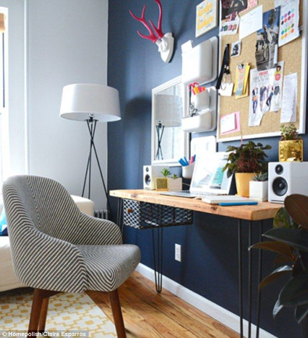 Homepolish Brooklyn Apartment Design With Cool Wallpaper: 78+ Ideas About Navy Accent Walls On Pinterest