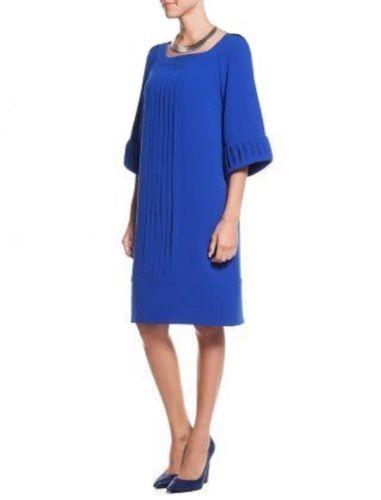 Koenigsblau-Kleid-Designer-Kleid-Cocktailkleid-royalblau-elegante-Kleid-Size-36