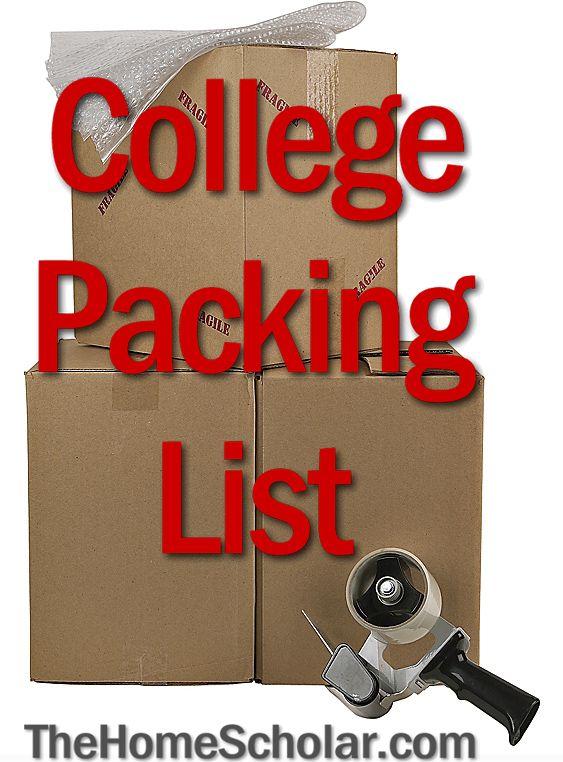 Handy College Packing List #College  @TheHomeScholar #Homeschool