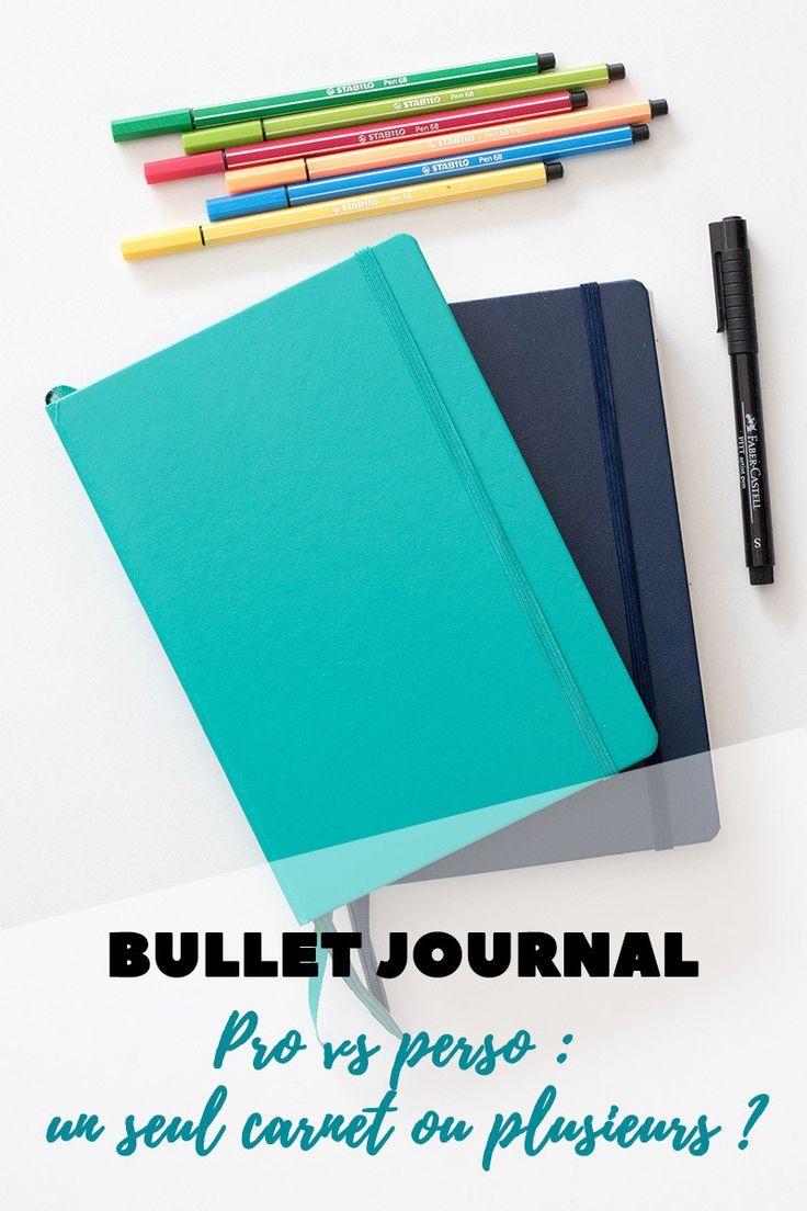 Bullet journal pro vs perso : un seul carnet ou plusieurs ? - Avril sur un fil