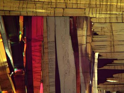 Benzoic Acid melt crystal, magnified 40 times. From Doug Craft, Doug Craft Fine Art, Lakewood, Colorado, USA