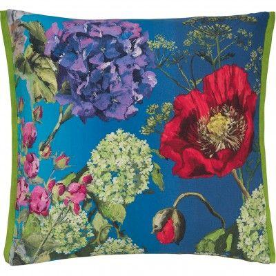 Pure linen painterly cushion. 60 x 60cm