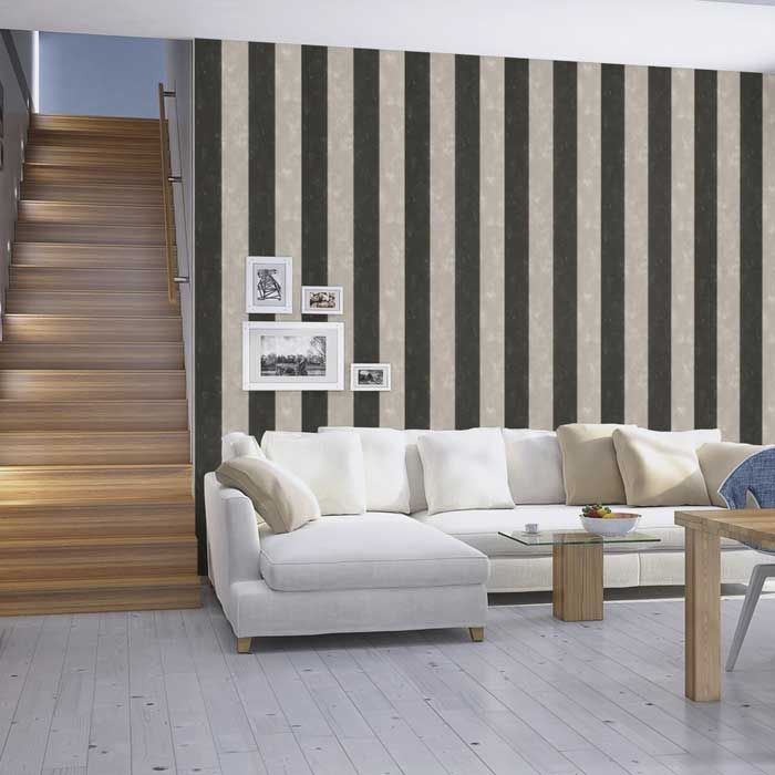 Las 25 mejores ideas sobre rayas grises en pinterest - Disbar papeles pintados ...