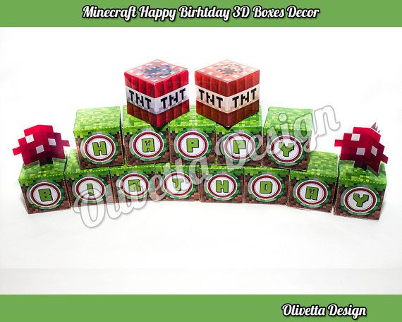 17 best images about minecraft designs on pinterest for 3d decoration for birthday