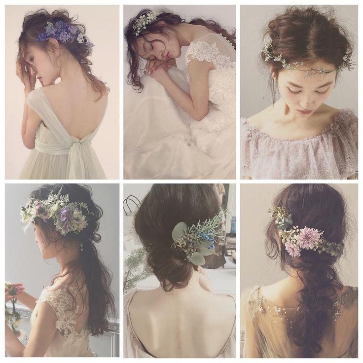 * * Autumn wedding hair * * ヌケ感のある エフォートレスヘアが オススメです * * @maisonsuzu のドレスにも エフォートレスヘアが 似合います♡ * * モデル @miiiyaaakooo ♡ * * #ヘアアレンジ #ウェディング #fashion