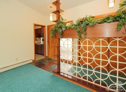 Retro room divider - Warm and beautiful 1962 mid-century modern brick ranch time capsule house -- Norfolk, Virginia - Retro Renovation