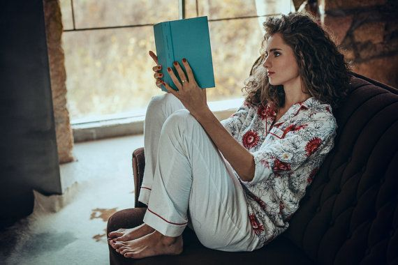 Flannel pajama set with a ladylike flower print. Add a great book and there's nothing else you need on a winter night in.  Laura by Lunaby $70