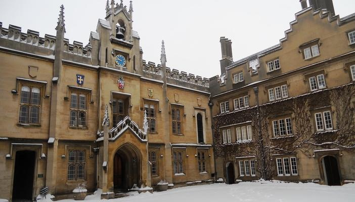 Sidney Sussex College in the Snow