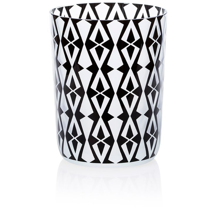 VIPERA | Handmade Glass Blown Large Tumbler, Vipera-Black 1924, height: 110 mm | top diameter: 83 mm | volume: 380 ml | Bohemian Crystal | Crystal Glass | Luxurious Glass | Hand Engraved | Original Gift for Everyone | clarescoglass
