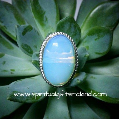 Opalite Moon Ring Visit our store at www.spiritualgiftsireland.com  Follow Spiritual Gifts Ireland on www.facebook.com/spiritualgiftsireland www.instagram.com/spiritualgiftsireland www.etsy.com/shop/spiritualgiftireland  We are also featured on Tumblr