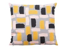 Elixir Cushion 45 x 45cm, Ochre Yellow and Grey