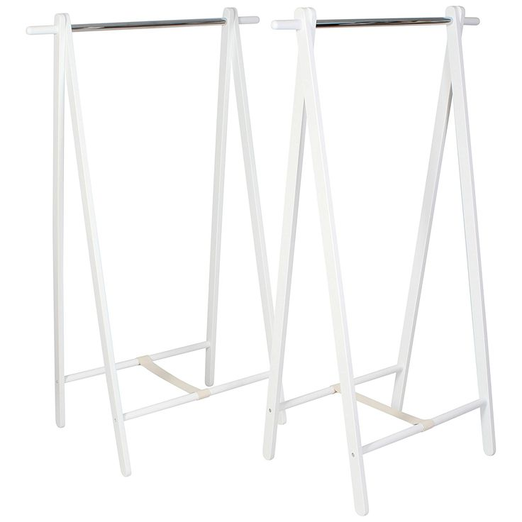 Heavy Duty Wooden Clothes Rack Two Pack Small 60cm/2ft Wide 120cm/4ft High Freestanding Folding Collapsible Clothing Hanging Rails for Coats and Garments White: Amazon.co.uk: Kitchen & Home
